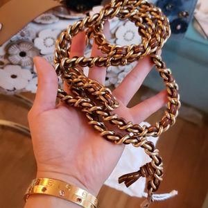 Coach chain strap gold
